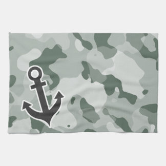 Ash Gray; Grey Camo; Anchor Kitchen Towels