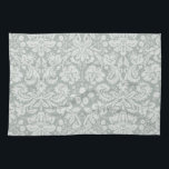 """Ash Gray; Grey Damask Pattern Hand Towel<br><div class=""""desc"""">You will love this cute,  chic,  Ash Gray; Grey Damask Pattern pattern design!  We invite you to our store,  Bridal Shower Shop,  to view this cool vintage girly design on many more great customizable products,  including retro Bridal Shower invitations!  Thank you!</div>"""