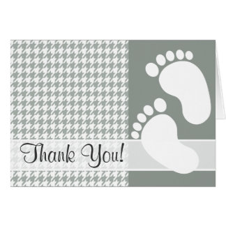 Ash Gray; Grey Houndstooth Greeting Cards