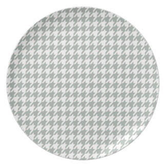 Ash Gray; Grey Houndstooth Plate
