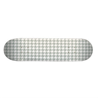 Ash Gray; Grey Houndstooth Skateboard Deck