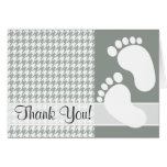Ash Gray; Grey Houndstooth Stationery Note Card