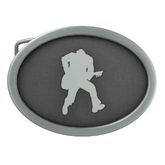Ash Gray Guitar Player Belt Buckle