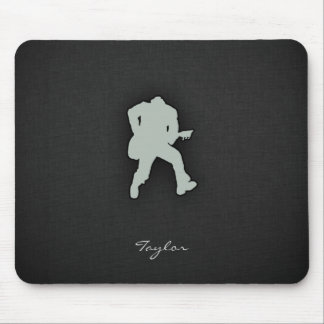 Ash Gray Guitar Player Mouse Pad