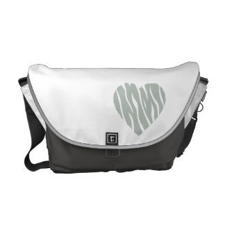 Ash Gray Heart Courier Bags