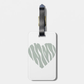 Ash Gray Heart Tags For Bags