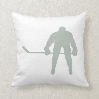 Ash Gray Hockey Throw Pillow