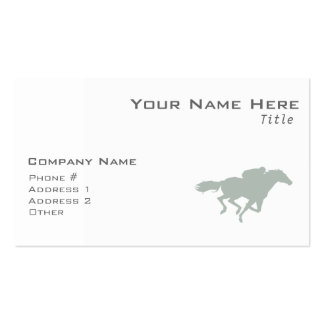 Ash Gray Horse Racing Double-Sided Standard Business Cards (Pack Of 100)