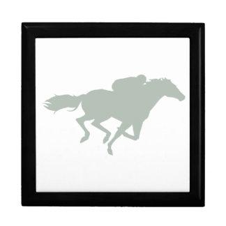Ash Gray Horse Racing Trinket Box