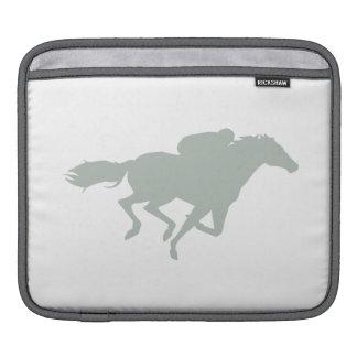 Ash Gray Horse Racing iPad Sleeve