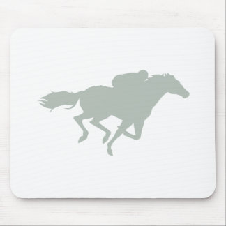 Ash Gray Horse Racing Mouse Pad