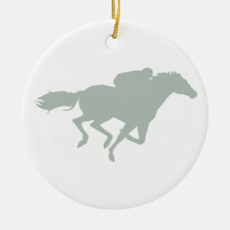 Ash Gray Horse Racing Christmas Tree Ornament