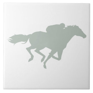 Ash Gray Horse Racing Tile