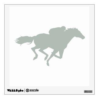 Ash Gray Horse Racing Wall Decal