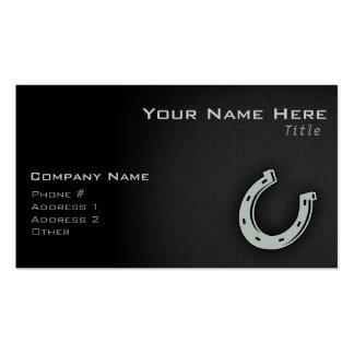 Ash Gray Horseshoe Business Card Template