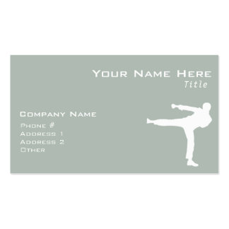 Ash Gray Martial Arts Double-Sided Standard Business Cards (Pack Of 100)