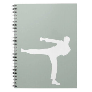 Ash Gray Martial Arts Spiral Notebook