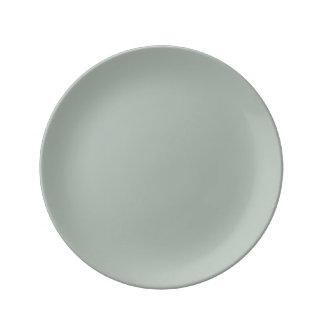 Ash Gray Porcelain Plates