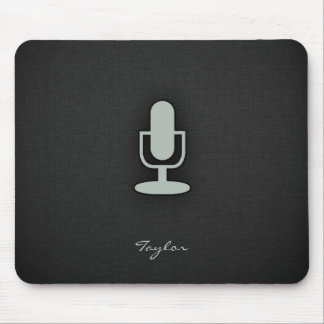 Ash Gray Microphone Mouse Pad