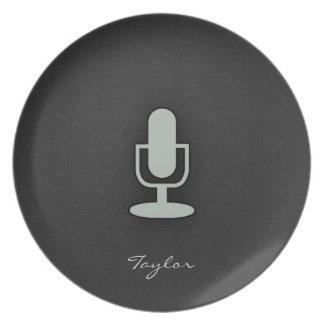 Ash Gray Microphone Plates