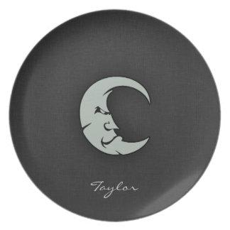 Ash Gray Moon Dinner Plate