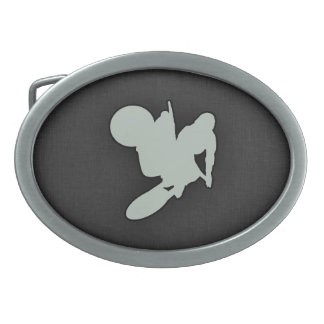 Ash Gray Motocross Belt Buckle