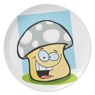 Ash Gray Mushroom Party Plates
