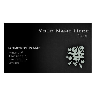 Ash Gray Paintball Business Card Template