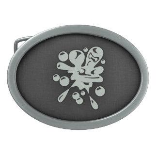 Ash Gray Paintball Oval Belt Buckle