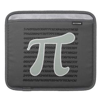 Ash Gray Pi Symbol iPad Sleeve