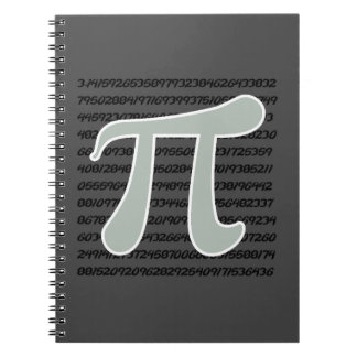 Ash Gray Pi Symbol Notebook