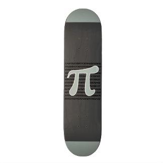 Ash Gray Pi Symbol Skateboard Deck