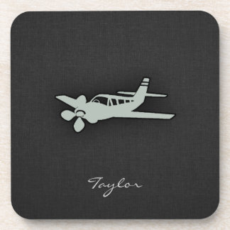 Ash Gray Plane Beverage Coaster