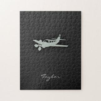 Ash Gray Plane Jigsaw Puzzle