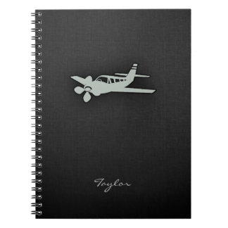 Ash Gray Plane Notebook