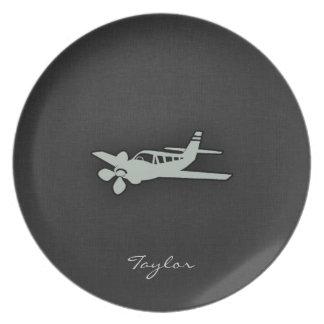 Ash Gray Plane Dinner Plate