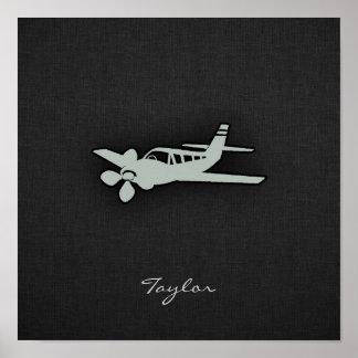 Ash Gray Plane Poster