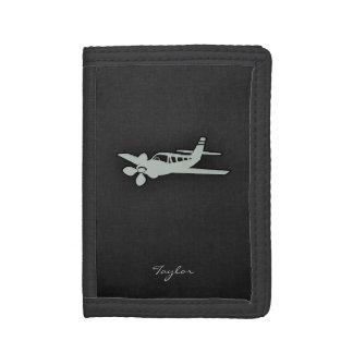 Ash Gray Plane Tri-fold Wallet