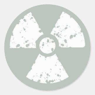 Ash Gray Radioactive Classic Round Sticker