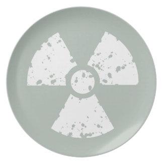 Ash Gray Radioactive Dinner Plate