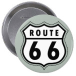 Ash Gray Route 66 Road sign Button
