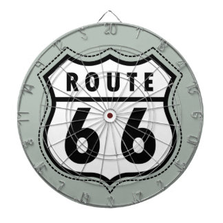Ash Gray Route 66 Road sign Dart Board