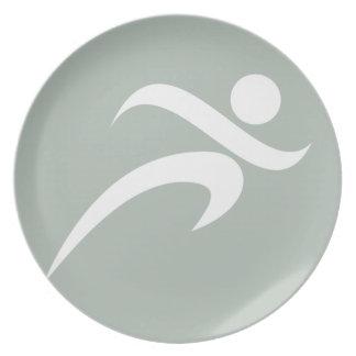 Ash Gray Running Plates