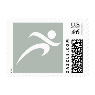 Ash Gray Running Stamp
