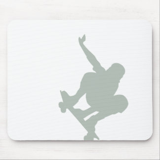Ash Gray Skater Mouse Pad
