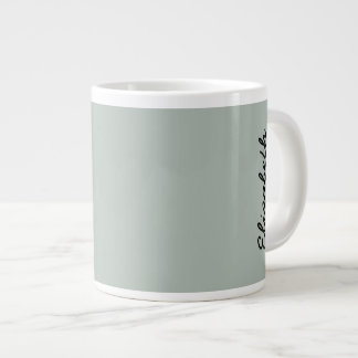 Ash Gray Solid Color Customize It Large Coffee Mug