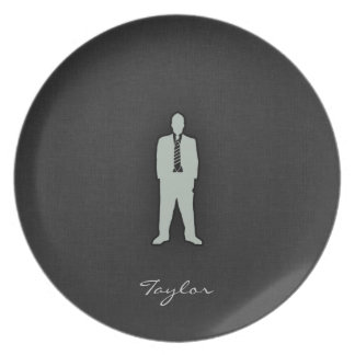Ash Gray swag Dinner Plate