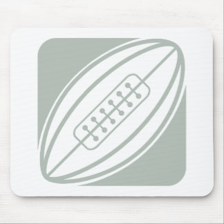 Ash Gray & White Rugby Mousepads