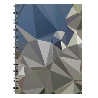 Ash Grey Abstract Low Polygon Background Notebook