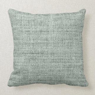 Ash grey burlap linen background pillow